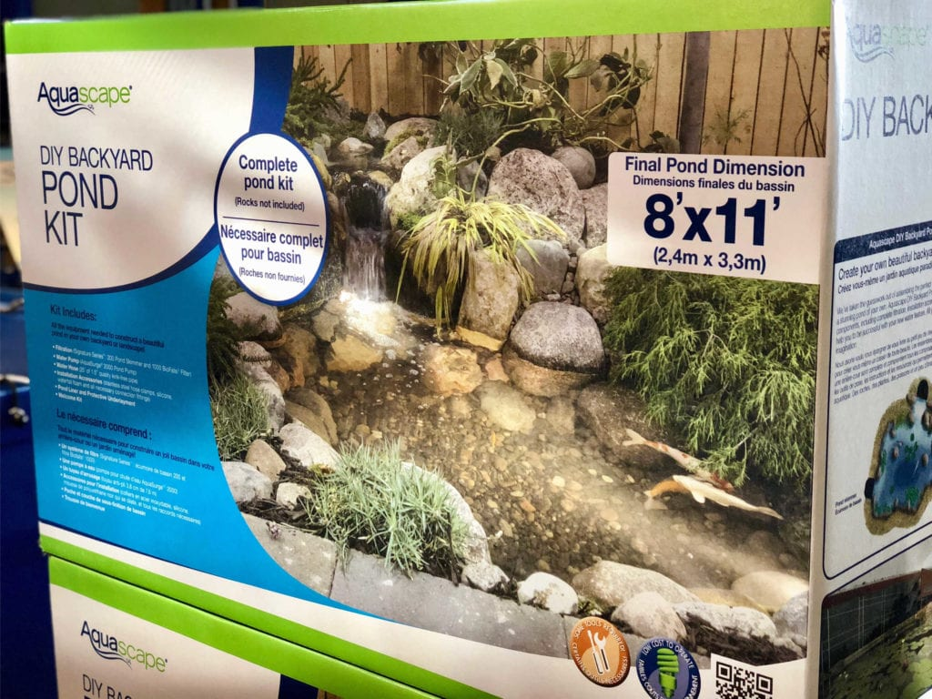 What 39 s included in a diy pond kit splash supply for Pond kits supplies