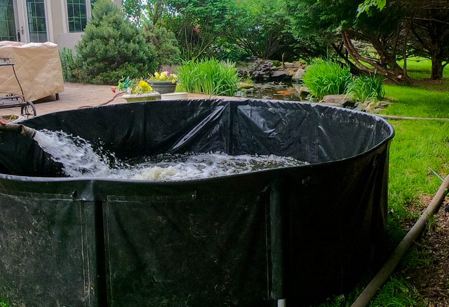 Pond Clean-Out Tank